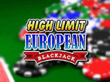 Игровой автомат High Limit European Blackjack в Вулкане